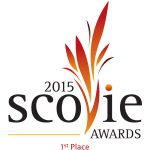 Scovie Awards 2015 1st Place logo