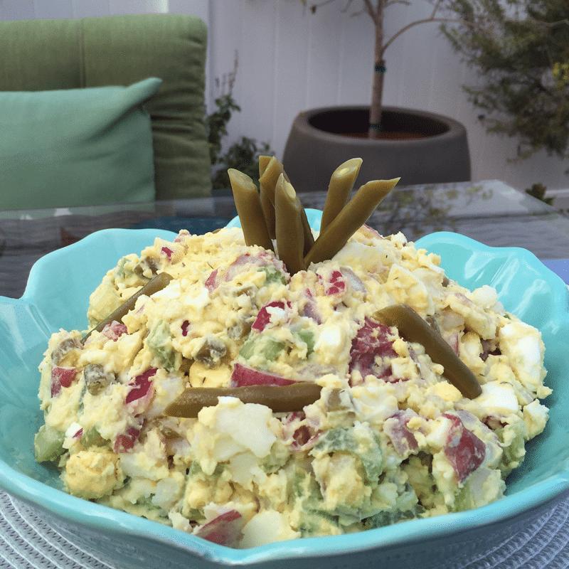 Photo of Bolder Beans Potato Salad on patio