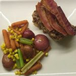 Meatloaf made with Bloody Mary Mix from Mary's Mornin' FiXXer