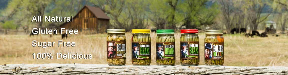 Bolder Beans product family shot on fence post