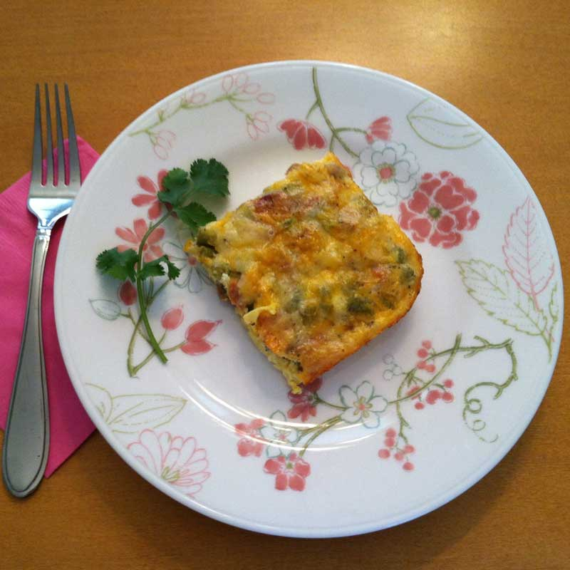 Frittata made with Bolder Mushrooms
