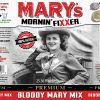 Image of product label for Mary's Mornin' FiXXer Bloody Mary mix in 750ml